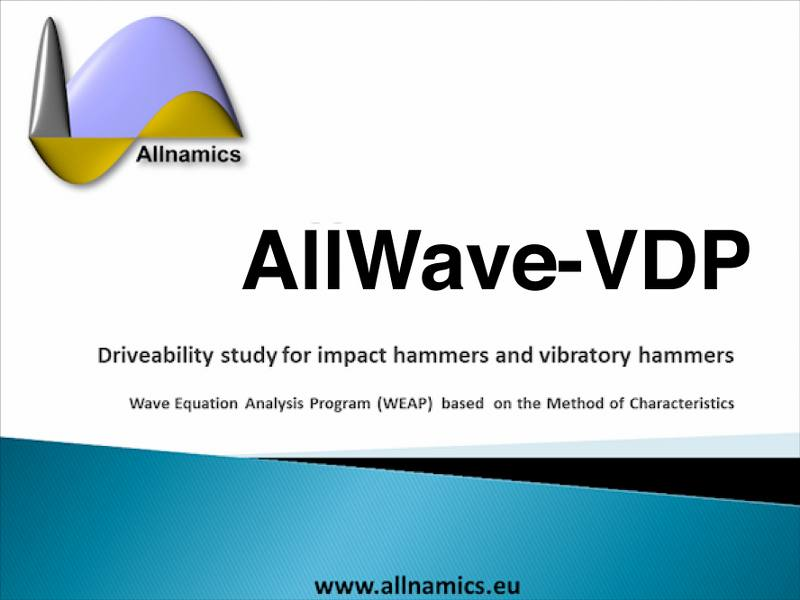 AllWave-VDP software for driveability studies for vibratory driving