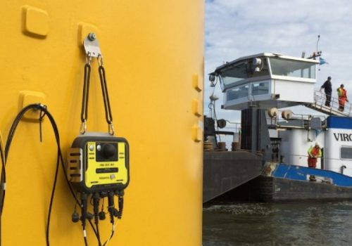 Allnamics Pile Driving Analysis on offshore wind farm WesterMeerWind using WiFi data transmission