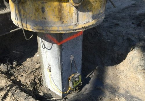 Dynamic Load Testing Signal Matching gives the bearing capacity of piles, including prefab concrete piles