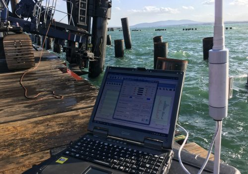 Dynamic Load Testing DLT on offshore piles