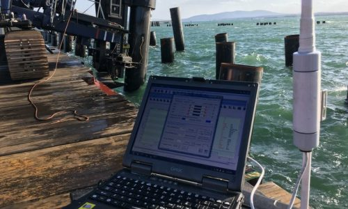 Dynamic Load Testing (DLT or PDA) on steel offshore piles to determine the bearing capacity of the foundation piles