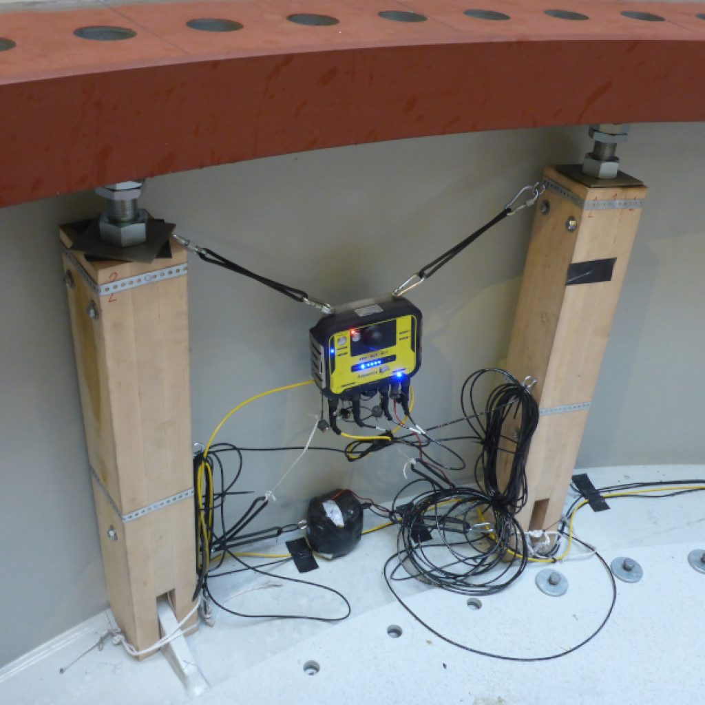 Allnamics PDR in Data Recorder Mode at the inside of a Offshore Monopile, ready for monitoring