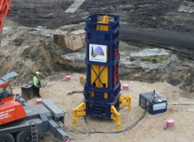 StatRapid is one of the methods for Rapid Load Testing, here ready to use for the check on the foundation of an onshore wind farm