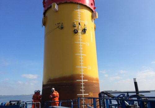 Allnamics PDA with 3 coupled PDR's for 12 channel PDA monitoring on monopiles for Offshore Wind Farm at Urk