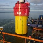 PDA Testing during pile driving of huge monopiles: the PDR is inside the monopiles without data connection, storing all signals and data on the internal memory of the PDR